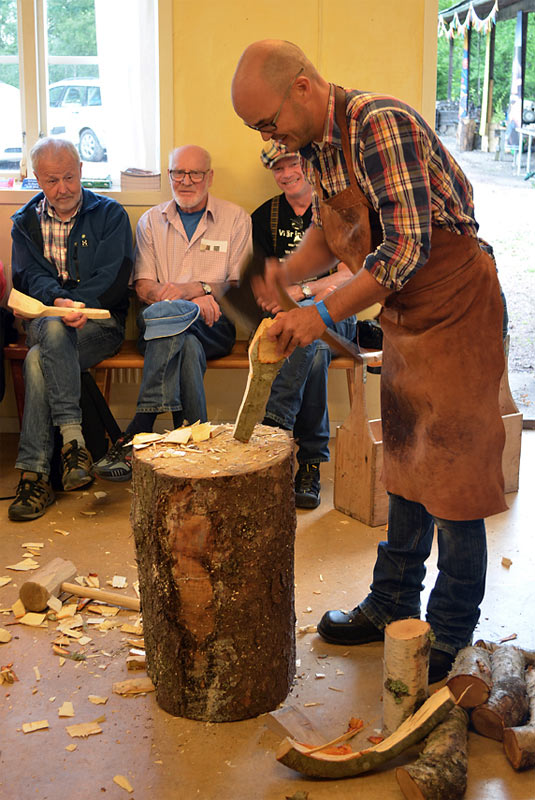 Täljfest. The day that I demonstrated spooncarving to Wille and Jögge Sundqvist.