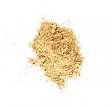 En liten hög med gult pigment