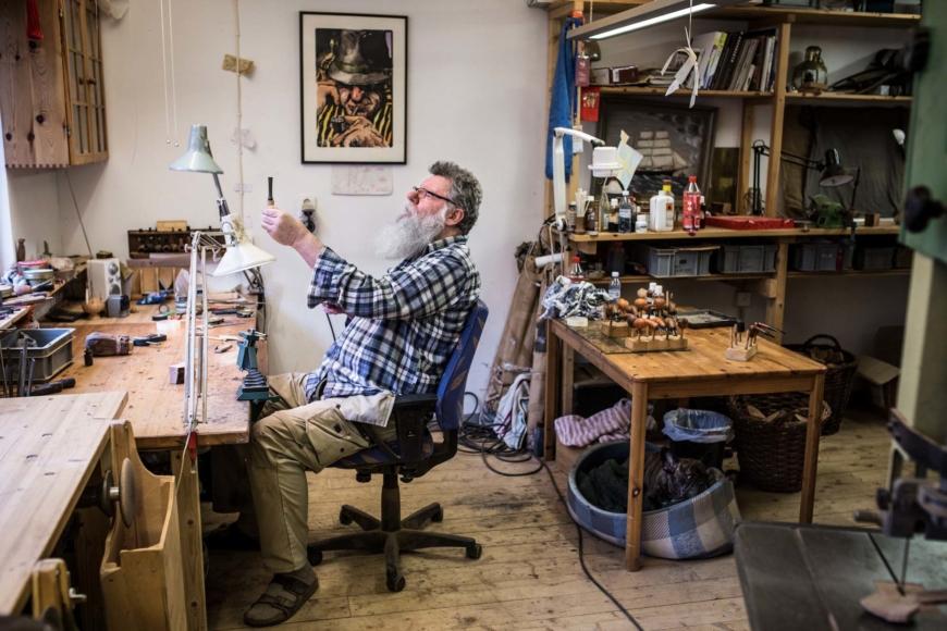 Lars Jönsson i sin verksatd
