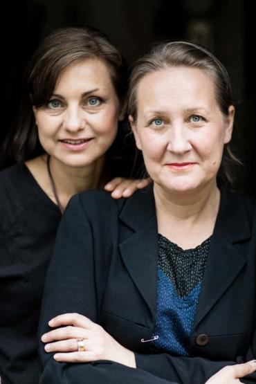 Porträtt av Katarina Evans och Katarina Brieditis.