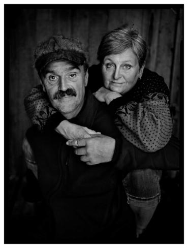 Porträtt av Åke Åström och Karin Gunnarsdotter