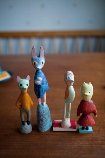 Fyra av Clara Dackenbergs figurer.