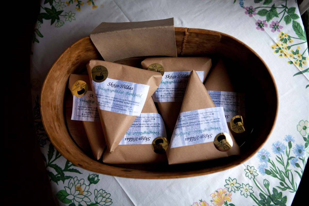 Barkbrödspaket i en svepask.