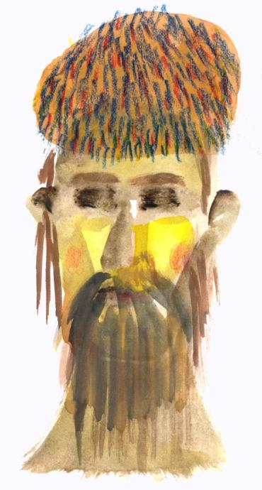 Porträtt av Ötzi