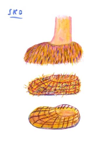 Illustration av konstruktionen på Ötzis skor.