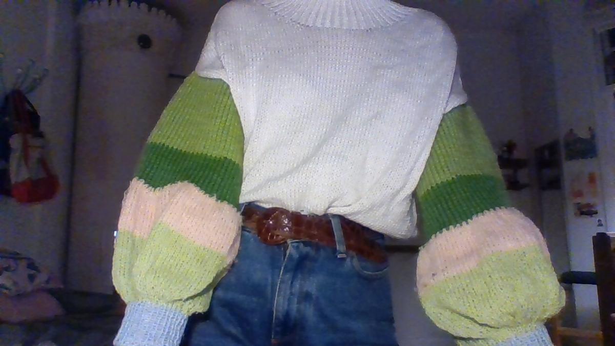 resting knit face. ett litet inlägg om stickning